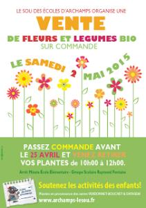 Ventes de fleurs et de légumes 2015